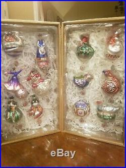 Pottery Barn Twelve Days of Christmas Ornaments Brand New 12