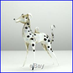 RARE Antique German c1900 Figurative Christmas Tree Glass Ornament Dalmatian Dog