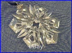 RARE Retired Swarovski 1999 Christmas Ornament Star Snowflake 235913 Mint Boxed