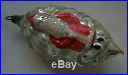 Rare Early German Father Christmas on a Pinecone Glass Ornament Large