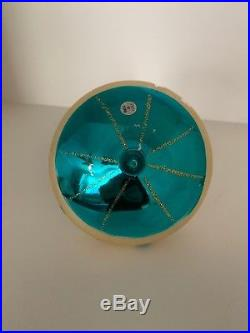 Rare Vintage 1960 Carlini Spaceship Alien Christmas Glass Ornament Globe Italy