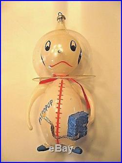 Rare Vintage De Carlini ASTROPUP Astronaut Glass Christmas Ornament Space Suit
