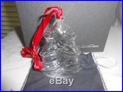 Steuben Art Glass CHRISTMAS TREE Christmas Ornament with Box & Bag