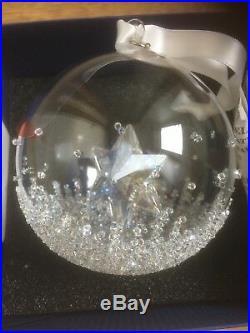 Swarovski Annual Edition Christmas Ornament 2014 Ball New In Box 2212498
