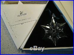 Swarovski Set 1991 2001 Large Snowflake Annual Glass Christmas Ornaments (11)
