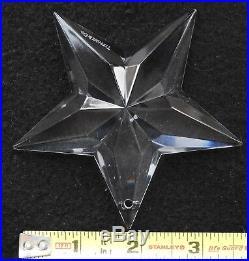 Tiffany & Co. Crystal Christmas Ornament Star, Rocking Horse, Wreath, Partridge