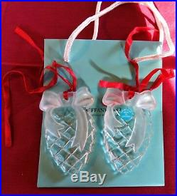 Tiffany & Co Crystal Glass Pinecone Christmas Decoration Limited Edition New