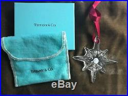 Tiffany & Co. Crystal Star Ornament 2009 Collection Mint In Box