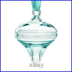 Tiffany & Co Onion Ball Tiffany Blue Crystal Glass Christmas Ornament
