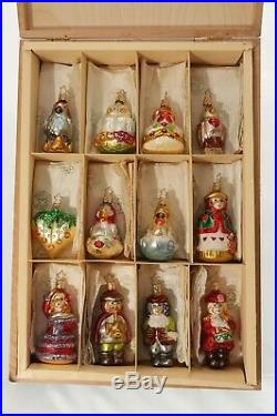 Twelve Days of Christmas Ornaments by Inge-Glas of Germany