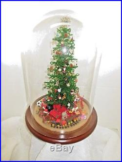 VINTAGE Westrim GLASS BEADED Christmas Tree COMPLETE Glass DOME Ornaments Toys