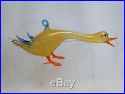 Vintage 1920's Bimini German Blown Art Glass DUCK Christmas Ornament #3