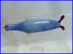 Vintage 1920's Bimini German Blown Art Glass PENGUIN Christmas Ornament #4