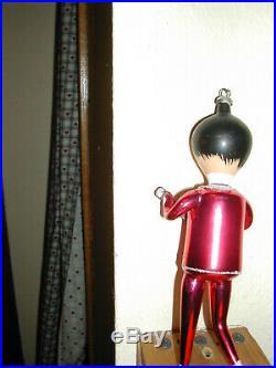 Vintage 1960s John from the Beatles Italian Glass Christmas Ornament