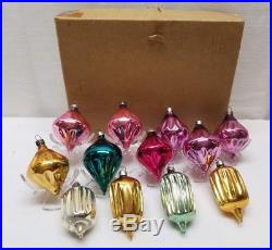 Vintage Hand Blown Mercury Balloon Parachute Bauble Glass Christmas Ornament Lot