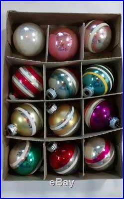 Vintage Mercury Glass Christmas Ornaments Lot Most Shiny ...
