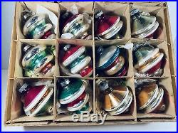 Vintage Mercury Glass Shiny Brite UFO / Spaceship /Top Christmas Onaments
