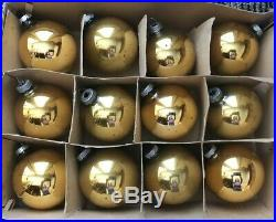 Vintage SHINY BRITE Mercury Glass CHRISTMAS ORNAMENT LOT 134 Bell Mica Stripe