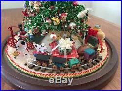 Vintage Westrim Beaded Christmas Tree Glass Dome Ornaments Toys