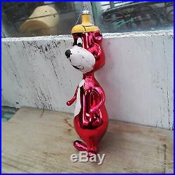Vintage YOGI BEAR Blown Glass Christmas Ornament DE CARLINI Italy Very Good