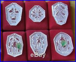 Waterford 12 Days Christmas Ornaments + 1983 & 1984 = 14 NEVER USED FREE SHIP