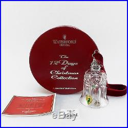 Waterford Crystal 12 Days of Xmas Eight 8 MAIDS 8th Bell /s Ornament Tramore MIB