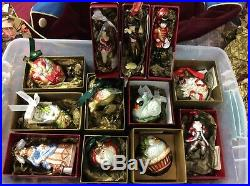 Waterford RARE 12 Days of Christmas Ornaments Holiday Heirlooms Complete Set 12